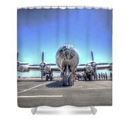 B29 Superfortress At Modesto Shower Curtain