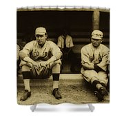 Babe Ruth On Far Left With The Boston Red Sox 1915 Shower Curtain
