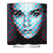 Good Pixels Shower Curtain