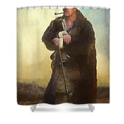 Badger Lv Shower Curtain