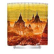 Bagan Pagodas Shower Curtain
