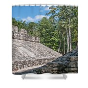 Ball Court At The Coba Ruins  Shower Curtain