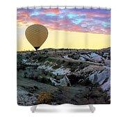 Ballooning At Sunrise No 2 Shower Curtain