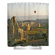Ballooning In Cappadocia Shower Curtain