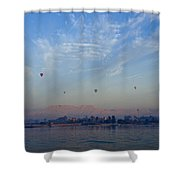 Ballooning Over The Nile Shower Curtain