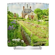 Ballroom Gardens In The Spring Shower Curtain