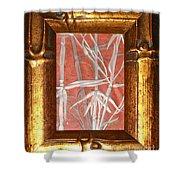 Golden Bamboo Shower Curtain