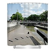 Bancroft Basin - Canal Lock Shower Curtain