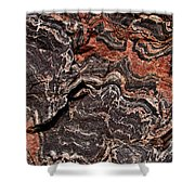 Banded Gneiss Rock Shower Curtain