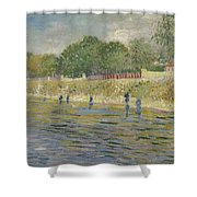Bank Of The Seine Paris, May - July 1887 Vincent Van Gogh 1853 - 1890 Shower Curtain