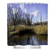 Banner Marsh Shower Curtain