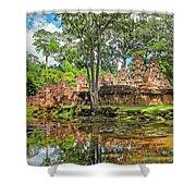 Banteay Srei Temple - Cambodia Shower Curtain