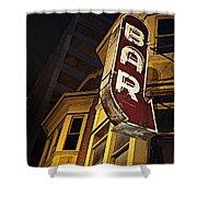 Bar Sign Shower Curtain