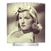 Barbara Bel Geddes, Vintage Actress Shower Curtain