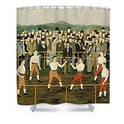 Bare Knuckles Shower Curtain