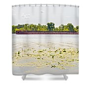 Barge On The Dnieper River Shower Curtain