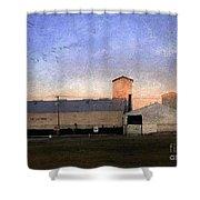 Barn At Sunrise Shower Curtain
