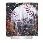 Baseball Art Version 6 Shower Curtain