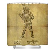 Baseball Catcher's Mask Patent Shower Curtain