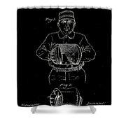 Baseball Glove Patent 1905 Shower Curtain