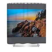 Bass Harbor Lighthouse Maine Shower Curtain