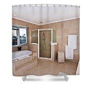 Bathroom And Spa Bath Shower Curtain