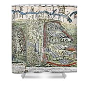 Battle Of Lake George, 1755 Shower Curtain