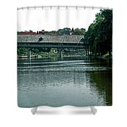 Bavarian Covered Bridge Shower Curtain