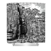 Bayon Faces  Shower Curtain