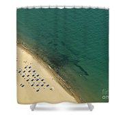 Beach Along Lake Michigan Shower Curtain