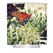 Beach Butterfly Shower Curtain