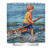 Beach Enterprise Shower Curtain