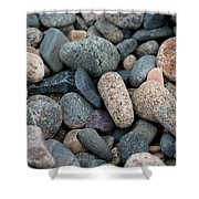 Beach Of Stones Shower Curtain