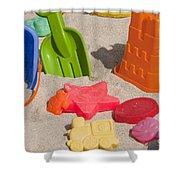 Beach Toys Shower Curtain