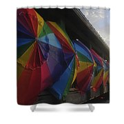 Beach Umbrella Row Shower Curtain
