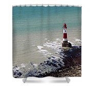 Beachy Head Lighthouse Shower Curtain