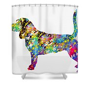 Beagle-colorful Shower Curtain