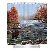 Bear In Fall Shower Curtain