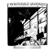 Beardsley: Yellow Book Shower Curtain