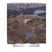 Beartooth Highway Cirques Shower Curtain