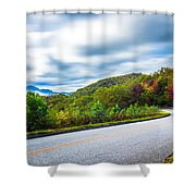 Beautiful Autumn Landscape In North Carolina Mountains Shower Curtain