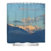 Beautiful Countryside Of The Italian Mountains With A Cloudy Sky Shower Curtain