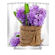 Beautiful Hyacinths Shower Curtain
