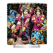 Beautiful Image Of Krishna And Radhe From Boise Hare Krishna Temple Shower Curtain