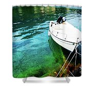 Greek Vacations Shower Curtain