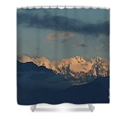 Beautiful Scenic View Of The Mountains In Italy  Shower Curtain