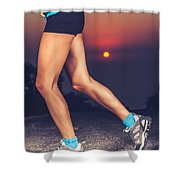 Beautiful Sportive Womens Legs Shower Curtain
