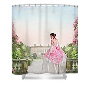 Beautiful Victorian Woman In The Garden Shower Curtain