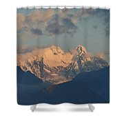 Beautiful View Of The Dolomites Mountains In Italy  Shower Curtain