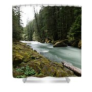 Beautiful White Water Shower Curtain